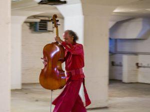 """Klangperformance """"Resonanz im Speicher"""", Osnabrück 2018, willem schulz, Trio """"Gepöante Obsoleszenz"""" - Angelika Höger, Marcus Beuter, Peter Schwieger"""